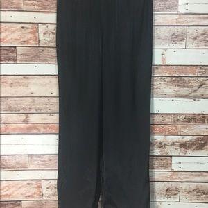 Black Satin like PJ Pants Size M/M